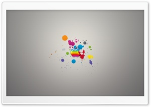 Glossy Apple Colorful Splash HD Wide Wallpaper for Widescreen