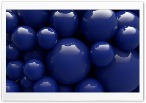 Glossy Blue Balls Background Ultra HD Wallpaper for 4K UHD Widescreen desktop, tablet & smartphone