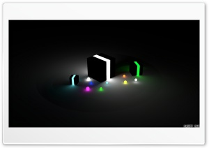 Glow Cubes HD Wide Wallpaper for Widescreen