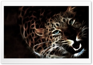 Glowing Leopard HD Wide Wallpaper for Widescreen