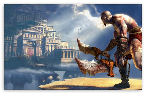 God Of War 2 HD wallpaper for Wide 16:10 5:3 Widescreen WHXGA WQXGA WUXGA WXGA WGA ; HD 16:9 High Definition WQHD QWXGA 1080p 900p 720p QHD nHD ; Standard 3:2 Fullscreen DVGA HVGA HQVGA devices ( Apple PowerBook G4 iPhone 4 3G 3GS iPod Touch ) ; Mobile 5:3 3:2 16:9 - WGA DVGA HVGA HQVGA devices ( Apple PowerBook G4 iPhone 4 3G 3GS iPod Touch ) WQHD QWXGA 1080p 900p 720p QHD nHD ;