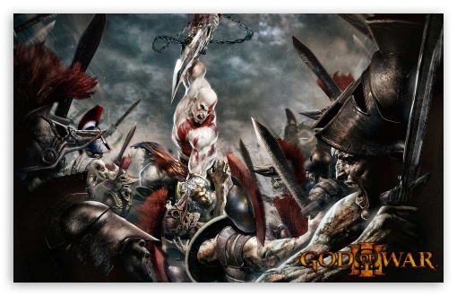 God Of War 3 HD wallpaper for Wide 16:10 5:3 Widescreen WHXGA WQXGA WUXGA WXGA WGA ; Standard 3:2 Fullscreen DVGA HVGA HQVGA devices ( Apple PowerBook G4 iPhone 4 3G 3GS iPod Touch ) ; Mobile 5:3 3:2 - WGA DVGA HVGA HQVGA devices ( Apple PowerBook G4 iPhone 4 3G 3GS iPod Touch ) ;