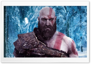 God Of War 4 Snow Forest HD Wide Wallpaper for 4K UHD Widescreen desktop & smartphone