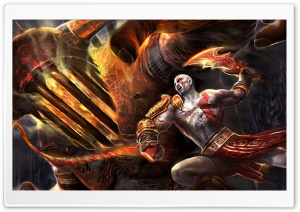 God Of War Fighting HD Wide Wallpaper for Widescreen