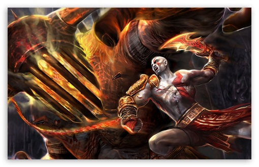 God Of War Fighting HD wallpaper for Wide 16:10 5:3 Widescreen WHXGA WQXGA WUXGA WXGA WGA ; HD 16:9 High Definition WQHD QWXGA 1080p 900p 720p QHD nHD ; Standard 3:2 Fullscreen DVGA HVGA HQVGA devices ( Apple PowerBook G4 iPhone 4 3G 3GS iPod Touch ) ; Mobile 5:3 3:2 16:9 - WGA DVGA HVGA HQVGA devices ( Apple PowerBook G4 iPhone 4 3G 3GS iPod Touch ) WQHD QWXGA 1080p 900p 720p QHD nHD ;