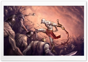 God Of War, Game Battle HD Wide Wallpaper for 4K UHD Widescreen desktop & smartphone
