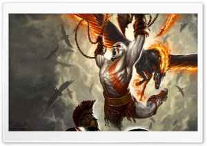 God Of War, Game Battle HD Wide Wallpaper for Widescreen
