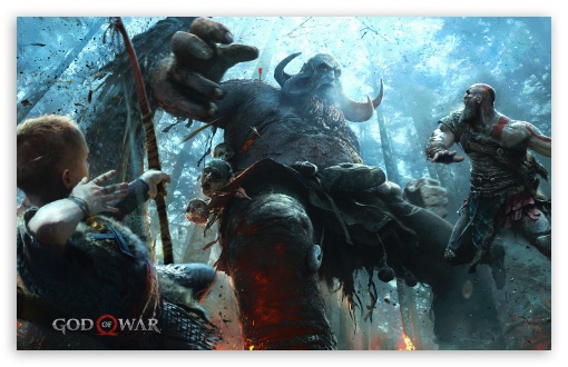 God Of War Ps4 Atreus Son Of Kratos Ultra Hd Desktop