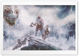 God of War (PS4) Norse mythology HD Wide Wallpaper for 4K UHD Widescreen desktop & smartphone