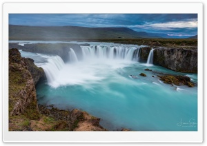 Godafoss Waterfall Iceland Ultra HD Wallpaper for 4K UHD Widescreen desktop, tablet & smartphone
