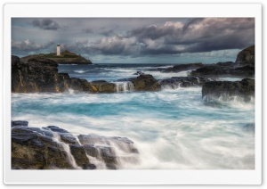 Godrevy Island in St Ives, United Kingdom Ultra HD Wallpaper for 4K UHD Widescreen desktop, tablet & smartphone