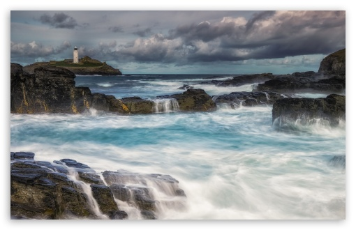 Download Godrevy Island in St Ives, United Kingdom UltraHD Wallpaper