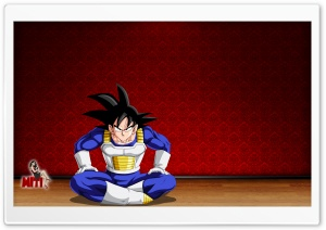 Goku In Room HD Wide Wallpaper for Widescreen