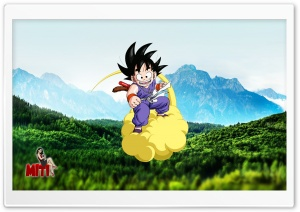 Goku Nimbus HD Wide Wallpaper for Widescreen