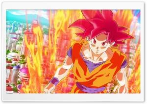 Goku Super Saiyan God HD Wide Wallpaper for 4K UHD Widescreen desktop & smartphone