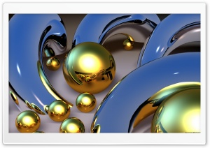 Gold Balls HD Wide Wallpaper for Widescreen