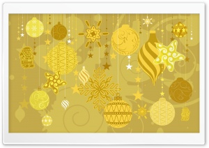 Gold Christmas HD Wide Wallpaper for Widescreen