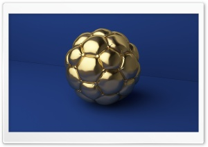 Gold Football Ball Art