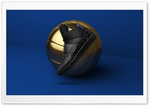 Gold Football Ball, Nike Mens Shoe HD Wide Wallpaper for 4K UHD Widescreen desktop & smartphone
