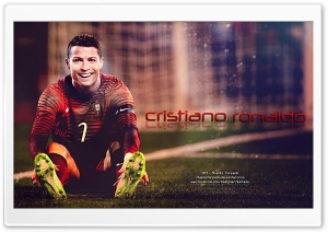 Gold painting of Cristiano Ronaldo HD Wide Wallpaper for Widescreen