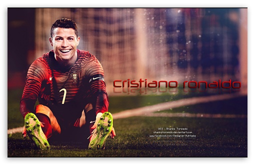 Gold Painting Of Cristiano Ronaldo Ultra HD Desktop