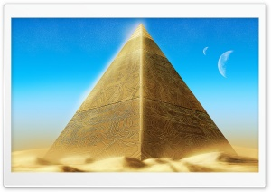 Gold Pyramid HD Wide Wallpaper for Widescreen