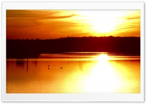Gold Sunset Sky 10 HD Wide Wallpaper for Widescreen