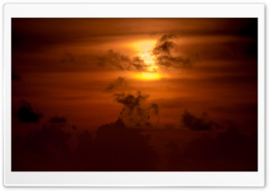 Gold Sunset Sky HD Wide Wallpaper for Widescreen