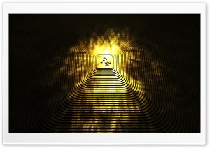 Gold Ziggurat HD Wide Wallpaper for Widescreen