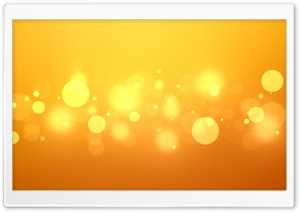 Golden Bokeh HD Wide Wallpaper for Widescreen