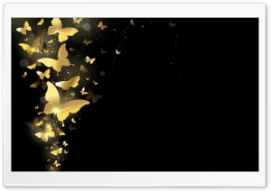 Golden Butterflies HD Wide Wallpaper for Widescreen