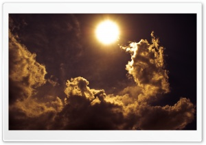 Golden Clouds HD Wide Wallpaper for Widescreen