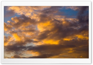 Golden Clouds Sky HD Wide Wallpaper for Widescreen