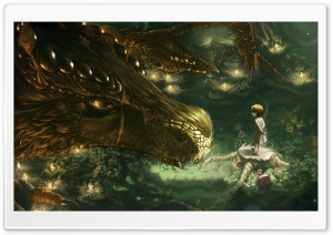 Golden Dragon HD Wide Wallpaper for Widescreen