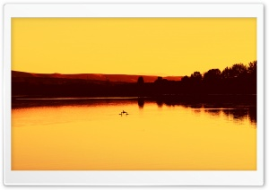 Golden Dusk Lake HD Wide Wallpaper for Widescreen