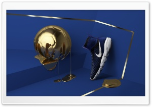 Golden Football Ball, Nike Mens Shoe HD Wide Wallpaper for 4K UHD Widescreen desktop & smartphone