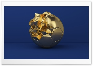 Golden Football Ball Trophy HD Wide Wallpaper for 4K UHD Widescreen desktop & smartphone