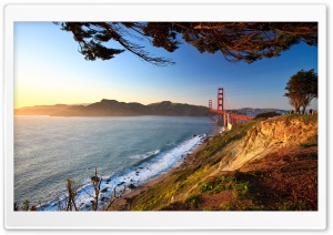Golden Gate Afternoon HD Wide Wallpaper for Widescreen