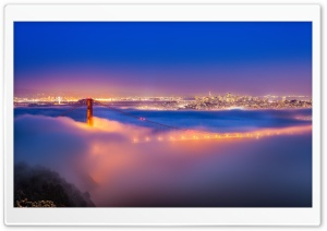 Golden Gate Bridge Fog HD Wide Wallpaper for Widescreen
