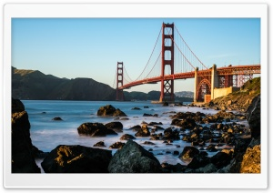 Golden Gate Bridge Marshall Beach Ultra HD Wallpaper for 4K UHD Widescreen desktop, tablet & smartphone