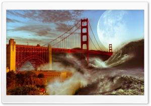 Golden Gate Bridge Storm HD Wide Wallpaper for Widescreen