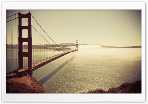 Golden Gate Bridge Sunrise HD Wide Wallpaper for Widescreen