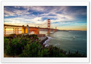Golden Gate Bridge Sunset HD Wide Wallpaper for Widescreen