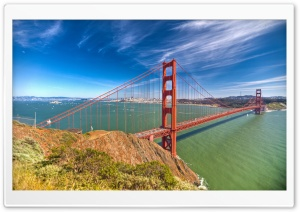 Golden Gate By Day HD Wide Wallpaper for 4K UHD Widescreen desktop & smartphone