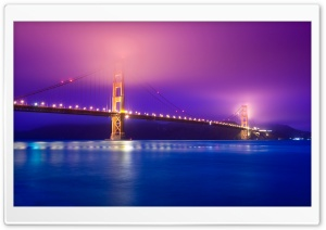 Golden Gate Fog HD Wide Wallpaper for Widescreen
