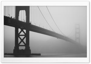 Golden Gate In Fog HD Wide Wallpaper for Widescreen