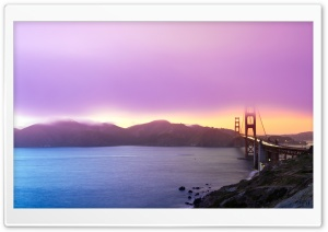 Golden Gate Sunset HD Wide Wallpaper for Widescreen