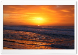 Golden Horizon, Sunset HD Wide Wallpaper for Widescreen