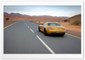 Golden Mercedes Benz SLS AMG HD Wide Wallpaper for Widescreen