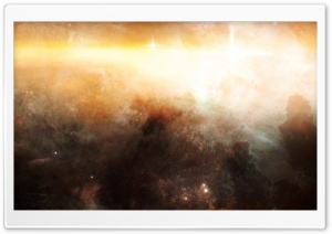 Golden Nebula HD Wide Wallpaper for Widescreen